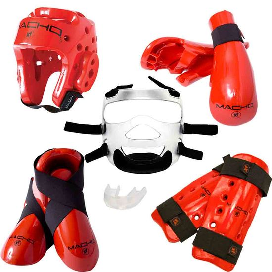 MACHO DYNA DELUXE  SPARRING GEAR SET - FACE SHIELD