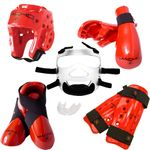 MACHO DYNA DELUXE  SPARRING GEAR SET WITH FACE SHIELD