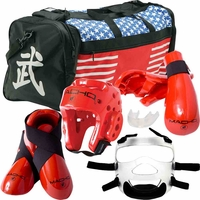 MACHO DYNA SPARRING GEAR SET WITH BAG & FACE SHIELD