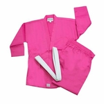 MACHO STUDENT PINK KARATE UNIFORM - image 1