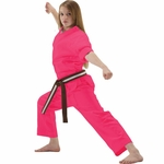 MACHO STUDENT PINK KARATE UNIFORM - image 4