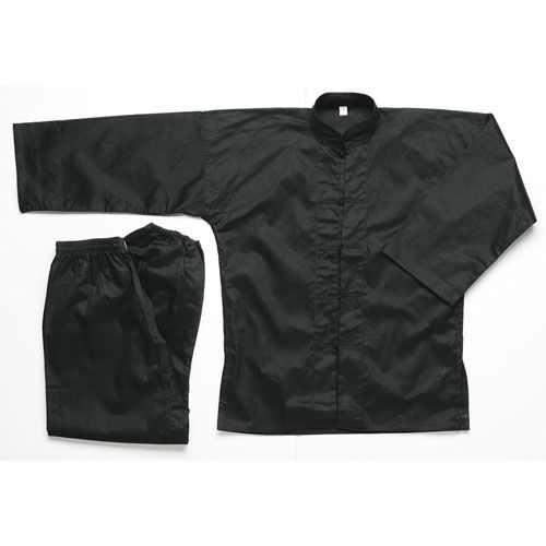 MASTERLINE BLACK KUNG FU UNIFORM