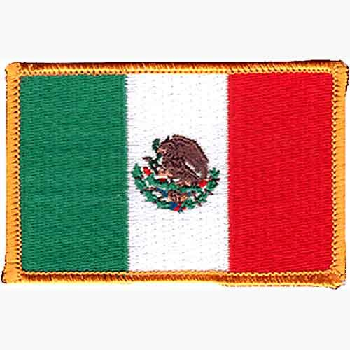 """MEXICAN FLAG PATCH  2.5"""" X 3.5"""""""