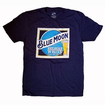 OFFICIAL BLUE MOON WHITE BELGIUM AIL TSHIRT