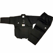PINE TREE DELUXE BLACK WTF RIBBED TKD UNIFORM