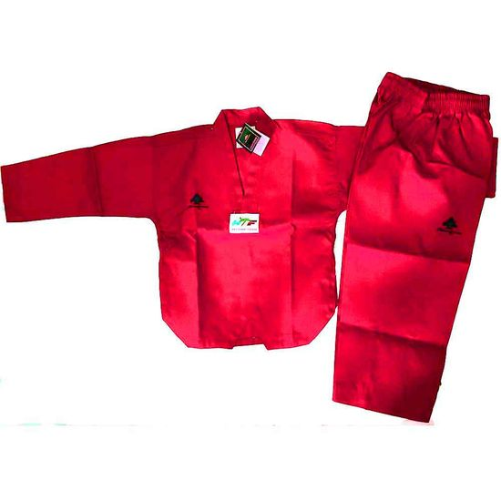PINE TREE DELUXE RED WTF RIBBED TKD UNIFORM