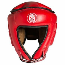 PROFORCE OPEN FACE HEAD GEAR RED