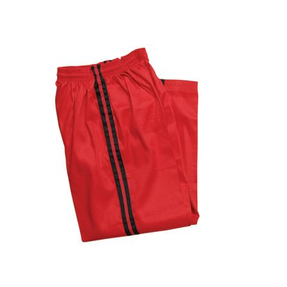 RED DEMO PANTS with BLACK STRIPE