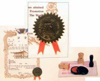 RIBBON & SEAL SET FOR CERTIFICATES (SET 10)