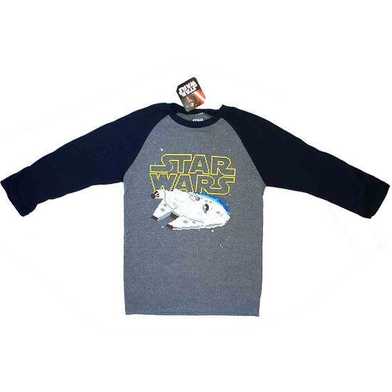STAR WARS LONG SLEEVE MILLENNIUM FALCON T-SHIRT