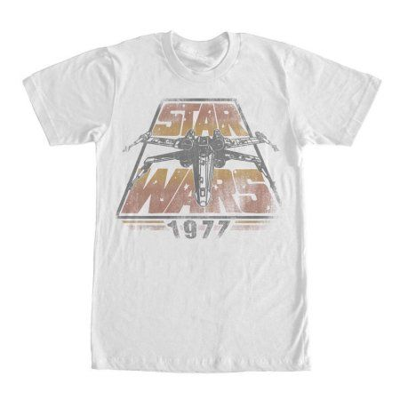 Star Wars Men's Space Travel 1977 X-Wing Starfighter White By Fifth Sun