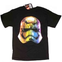 STAR WARS RAINBOW STORM TROOPER HELMET T-SHIRT