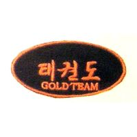 TAE KWON DO GOLD TEAM EACH PATCH