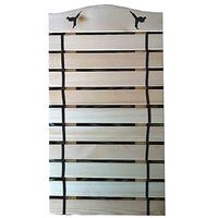 10 BELT WOOD FRAME BELT RACK