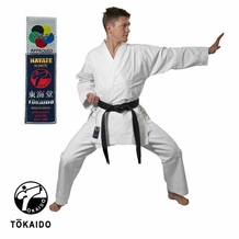 TOKAIDO 12OZ WHITE TOURNAMENT UNIFORM (TRADITIONAL DRAWSTRING)