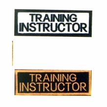 TRAINING INSTRUCTOR PATCH