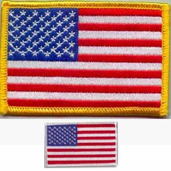 "USA FLAG PATCH  2.5"" X 3.5"""