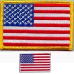 """USA FLAG PATCH """"gold or white border"""""""