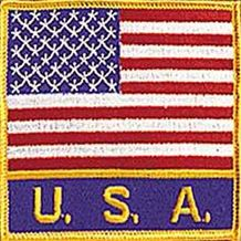 "USA FLAG PATCH with USA 3.5"" x 3.5"""