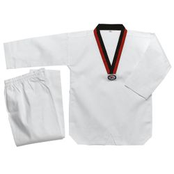 WHITE STUDENT TAEKWONDO UNIFORM POOM V-NECK