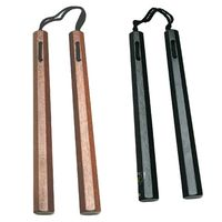 WOODEN OCTAGON NUNCHAKU with  NYLON CORD