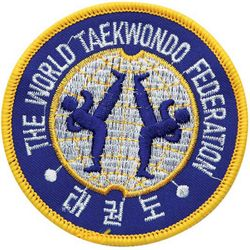 WORLD TAEKWONDO FEDERATION ORIGINAL PATCH