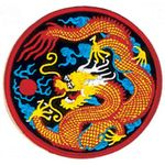 YELLOW AND RED DRAGON PATCH