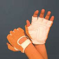 YELLOW MESH UPPER LEATHER CYCLE GLOVE