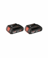 BOSCH BAT612-2PK 18V Lithium-Ion 2.0 Ah SlimPack Batteries 2 Pk.