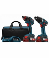 BOSCH CLPK233WC-02 18V Lithium-Ion 2-Tool Brushless Wireless-Charging Combo Kit