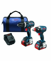 BOSCH CLPK251-181 - 18V Lithium-Ion Heavy Duty 2-Tool Combo Kit