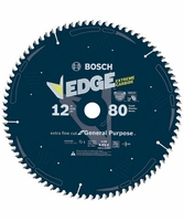BOSCH DCB1280 12 In. 80 Tooth Edge Circular Saw Blade for Extra-Fine Finish