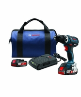 """BOSCH DDS183WC-102 - 18V Compact Tough 1/2"""" Drill/Driver Wireless Charging Kit"""