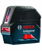 BOSCH GCL-2-160 - Self-Leveling Cross-Line Laser w/Plumb Points