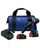 "BOSCH HDH183-B24 - 18V 1/2"" Hammer Drill/Driver Kit w/(2) CORE18V Batteries"