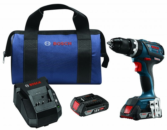 BOSCH HDS183-02 - 18V EC Brushless Compact Tough 1/2 Hammer Drill/Driver Kit