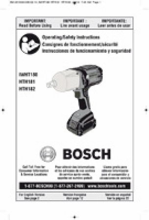 BOSCH HTH182B - 7/16 Hex 18V High Torque Impact Wrench - Bare Tool
