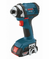 "BOSCH IDS181-01 -18V 1/4"" Hex Compact Tough Impact Driver w/2 Fat Pack Batteries"