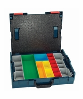 BOSCH L-BOXX-1A 17-1/2 In. x 14 In. x 4-1/2 In. Stackable Carrying Case w/ 13 pc. Insert Set