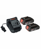 BOSCH SKC181-02 3 pc. 18V Lithium-Ion SlimPack Battery and Charger Starter Kit