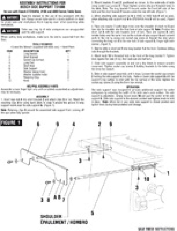 BOSCH TS1008 - Left Side Support for Table Saw