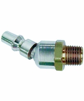 "Coilhose Pneumatics 15-06BS 1/4"" Industrial Ball Swivel Connector, 3/8"" MPT"