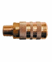 "Coilhose Pneumatics 15X6M 1/4"" 6-Point Industrial Coupler, 3/8"" MPT"