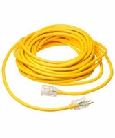 Coleman Cable 01687 12/3 Insulated outdoor Extension Cord w/Lighted End, 25Ft