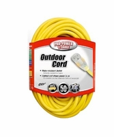 Coleman Cable 02588 50' Lighted End Outdoor Extension Cord 12/3 15A