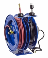 COXREELS C-L350-5016-A Air/Electric Hose Reel w/ Outlet w/ 3/8 x 50 Hose 300 PSI