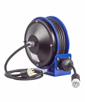 COXREELS PC10-3012-A Power Cord Reel with 30' of 12 GA Cord Single Receptacle