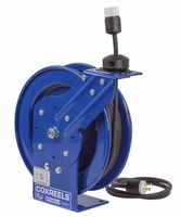 COXREELS PC13-5012-A Power Cord Reel with 50' of 12 GA. Cord Single Receptacle