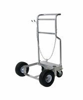 GRACO 24H422 Cart w/Pneumatic Wheels, 120 lb (16G) Drum, Chain for Securing Drum