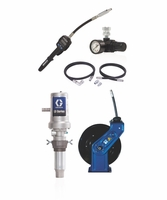 "GRACO 24K832 3:1 Oil Pump w/Flex Meter 6ft Air & Fluid Hoses SD 1/2"" x 35' Reel"